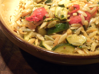 Orzo with Lemon, Zucchini & Tomatoes