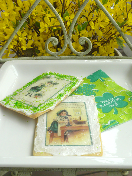 St. Patrick's Wafer Paper Butter Cookies