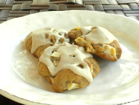 Apple Cookies with Maple Frosting