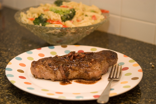 Pan Seared Strip Steak