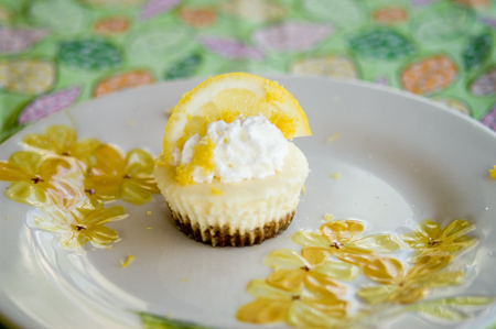 Mini Lemon Cheesecakes | A Foodie Affair