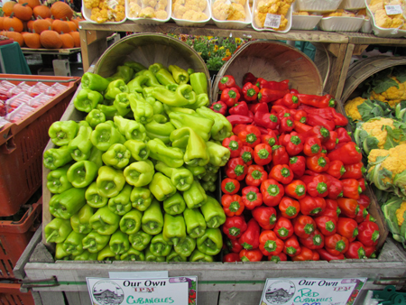All kinds of peppers!