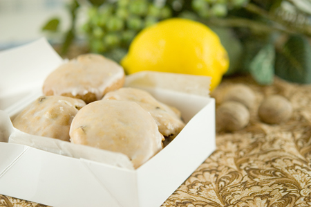Spice Cookies with Lemon Icing