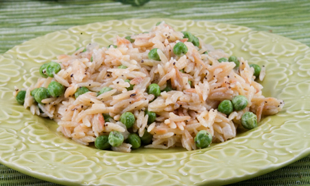 Toasted Orzo with Peas and Parmesan