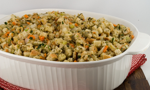 Herbed Bread Stuffing | A Foodie Affair
