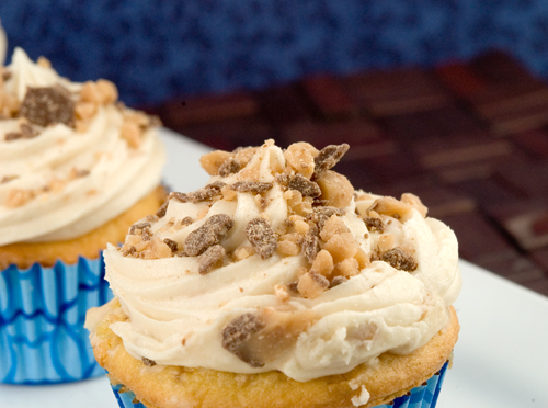 Buttercrunch Cupcakes