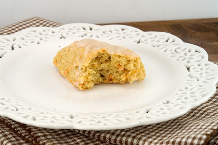 Carrot Spice Scone with Maple Icing - afoodieaffair.com