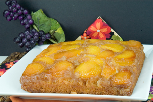 afoodieaffair.com | Peach Upside Down Cake