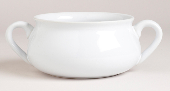 White Double Handled Soup Crock | shopafoodieaffair.com