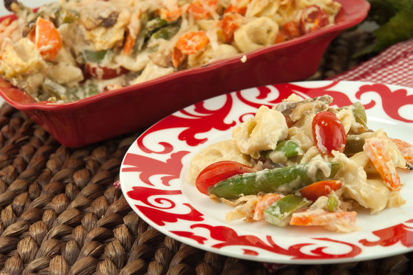 Tortellini Vegetable Bake | afoodieaffair.com