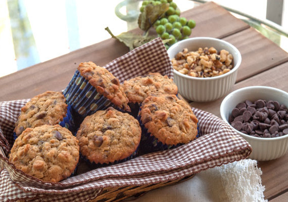 Chocolate Chip Oatmeal Muffins | afoodieaffair.com