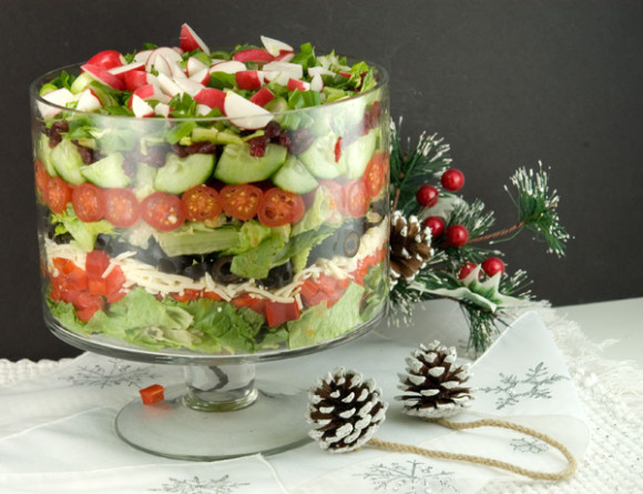Layered Winter Salad | afoodieaffair.com