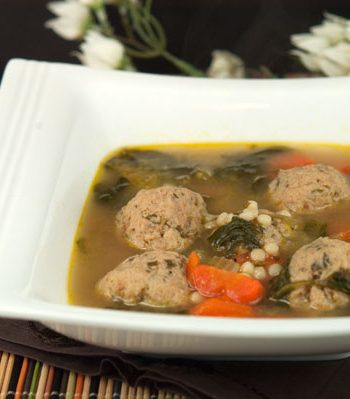 Wedding Soup with Chicken Meatballs | afoodieaffair.com