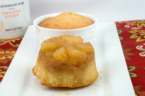 Rum Pineapple Upside Down Cakes