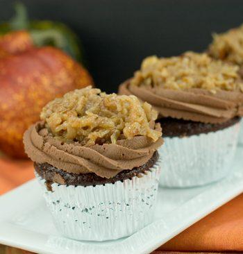 German Chocolate Cupcakes | afoodieaffair.com