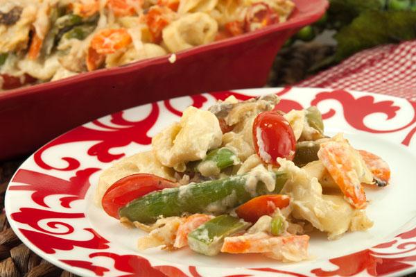 Tortellini Vegetable Bake | afoodieaffair.com