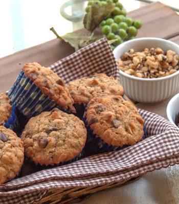 Chocolate Chip Oatmeal Muffins | afoodieaffair.com