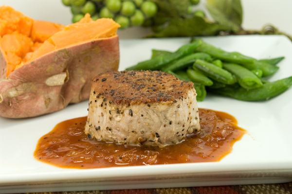 Pork Tenderloin Medallions with Cider Reduction | afoodieaffair.com