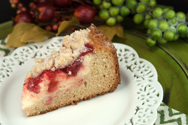 Strawberry Cream Cheese Coffee Cake | afoodieaffair.com