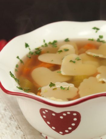 Chicken Soup with Heart | afoodieaffair.com