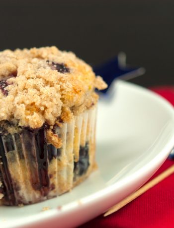 Lemon Blueberry Muffins with Streusel Topping | afoodieaffair.com