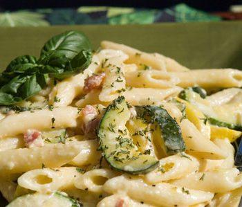 Jamie's Zucchini Carbonara | afoodieaffair.com